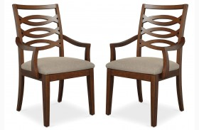 Claire de Lune Wood Back Arm Chair Set of 2
