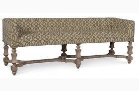 The Foundry Weathered Cream Bellevue Bench