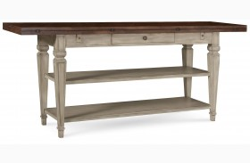 The Foundry Two-Tone Cedar Flip-Top Console Table