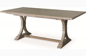 White Peony Mist Grey Le Charm Extendable Rectangular Dining Table