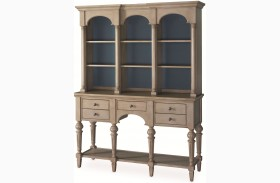 White Peony Mist Grey Solange Sideboard With Hutch