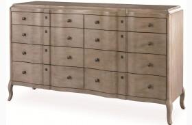 White Peony Mist Grey Diaphonous Dresser