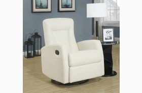 Ivory Swivel Rocker Recliner