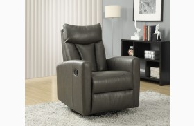 Charcoal Gray Swivel Glider Recliner 8087GY