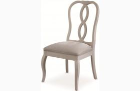 White Peony Blanc White Fern Side Chair