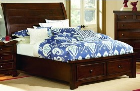 Hanover Dark Cherry Full Sleigh Storage Bed