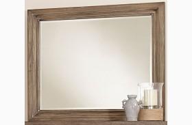 Whiskey Barrel Rustic Gray Landscape Mirror