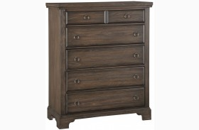 Whiskey Barrel Dark Roast 5 Drawer Chest