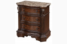 Monticello Marble Top Nightstand