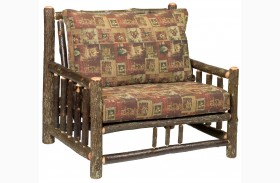 Hickory Log Frame Lounge Chair & A Half