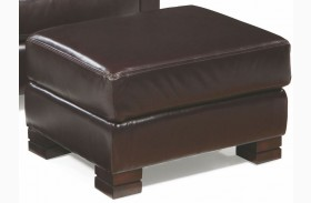 Carrington Madrid Espresso Leather Ottoman
