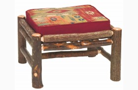 Hickory Log Frame Ottoman Lounge Chair