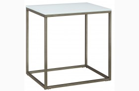Alana Frosted Glass Top Rectangular End Table