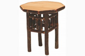 Hickory Octagon End Table
