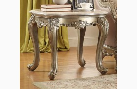 Fiorella Gold Marble Top End Table