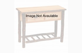 Hickory Rustic Alder 2 Drawer Sofa Table