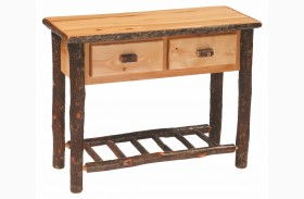 Hickory 2 Drawer Sofa Table