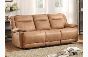 Wasola Brown Triple Reclining Sofa