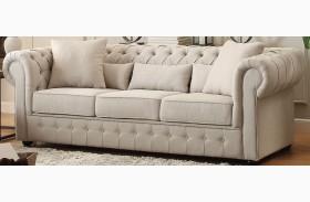 Savonburg White Sofa