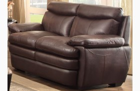 Rozel Dark Brown Loveseat