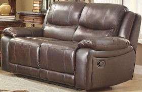 Allenwood Dark Brown Double Reclining Loveseat