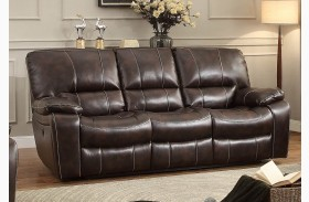 Timkin Dark Brown Power Double Reclining Sofa