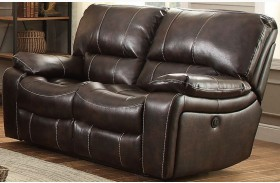 Timkin Dark Brown Power Double Reclining Loveseat