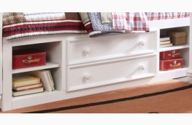 SummerTime Fresh White Twin Underbed Storage