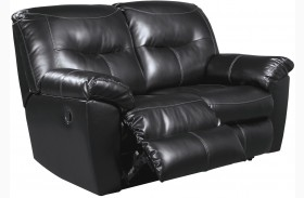 Kilzer DuraBlend Black Reclining Loveseat