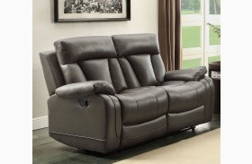 Ackerman Grey Double Reclining Loveseat