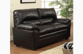 Talon Black Loveseat