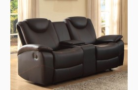 Talbot Black Double Glider Reclining Loveseat With Console