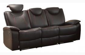 Talbot Black Double Reclining Sofa