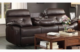 Evana Double Reclining Sofa With Drop-Down Cup Holder