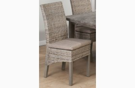Burnt Grey Kubu Rattan Chair Set of 2
