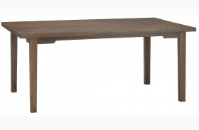Burnt Grey Solid Oak Fixed Top Dining Table