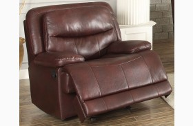 Risco Burgundy Glider Reclining Chair