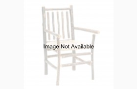 Hickory Rustic Alder Spoke Back Arm Chair