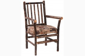 Hickory Standard Fabric Spoke Back Arm Chair