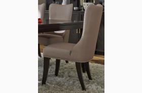 Platinum Upholstered Khaki Side Chair