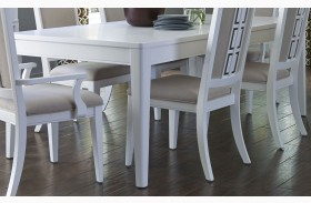 Brighton White Rectangular Extendable Leg Table