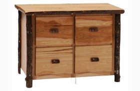 Hickory 4 Drawer File Cabinet