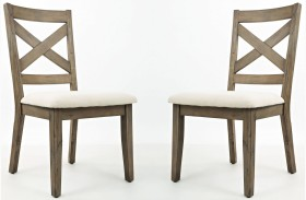 Hampton Road X Back Dining Chair Set of 2