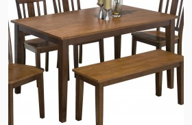 Kura Espresso and Canyon Gold Dining Table