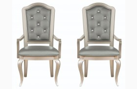 Diva Metallic Arm Chair Set of 2