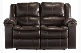 Long Knight Brown Reclining Loveseat