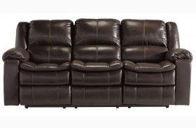 Long Knight Brown Power Reclining Sofa