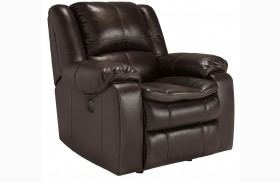 Long Knight Brown Power Rocker Recliner