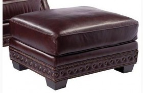 Canyon Copenhagen Cigar Leather Ottoman