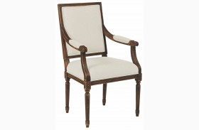 Artisans Shoppe Tobacco French Arm Chair Set of 2